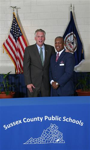 Virginia Governor Terry McAuliffe and Dr. Arthur Jarrett