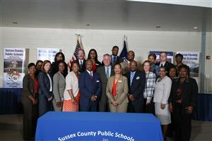 Virginia Governor Terry McAuliffe and Sussex Schools Administration